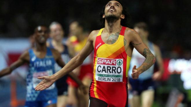 Fernando Carro en la final del Europeo de Berlín en el que fue...