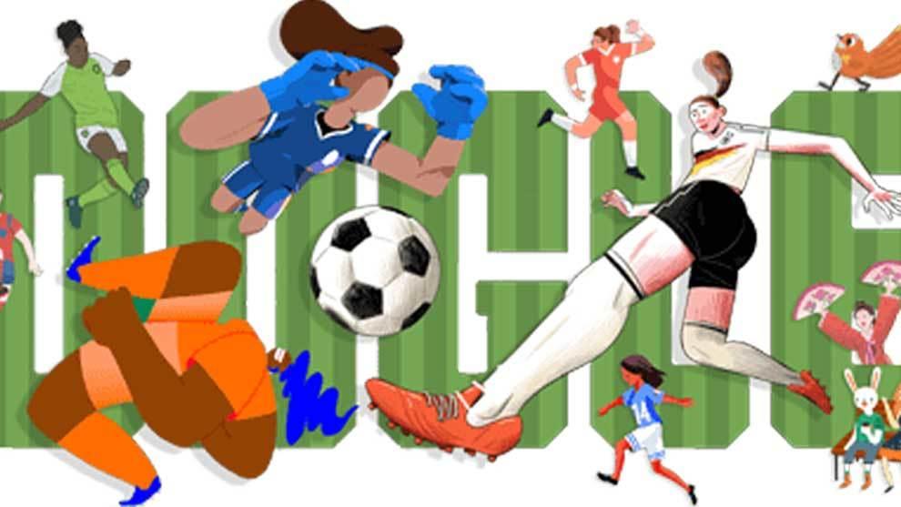 Google adoptó su famoso Doodle (dibujo, diseño o composición con la...