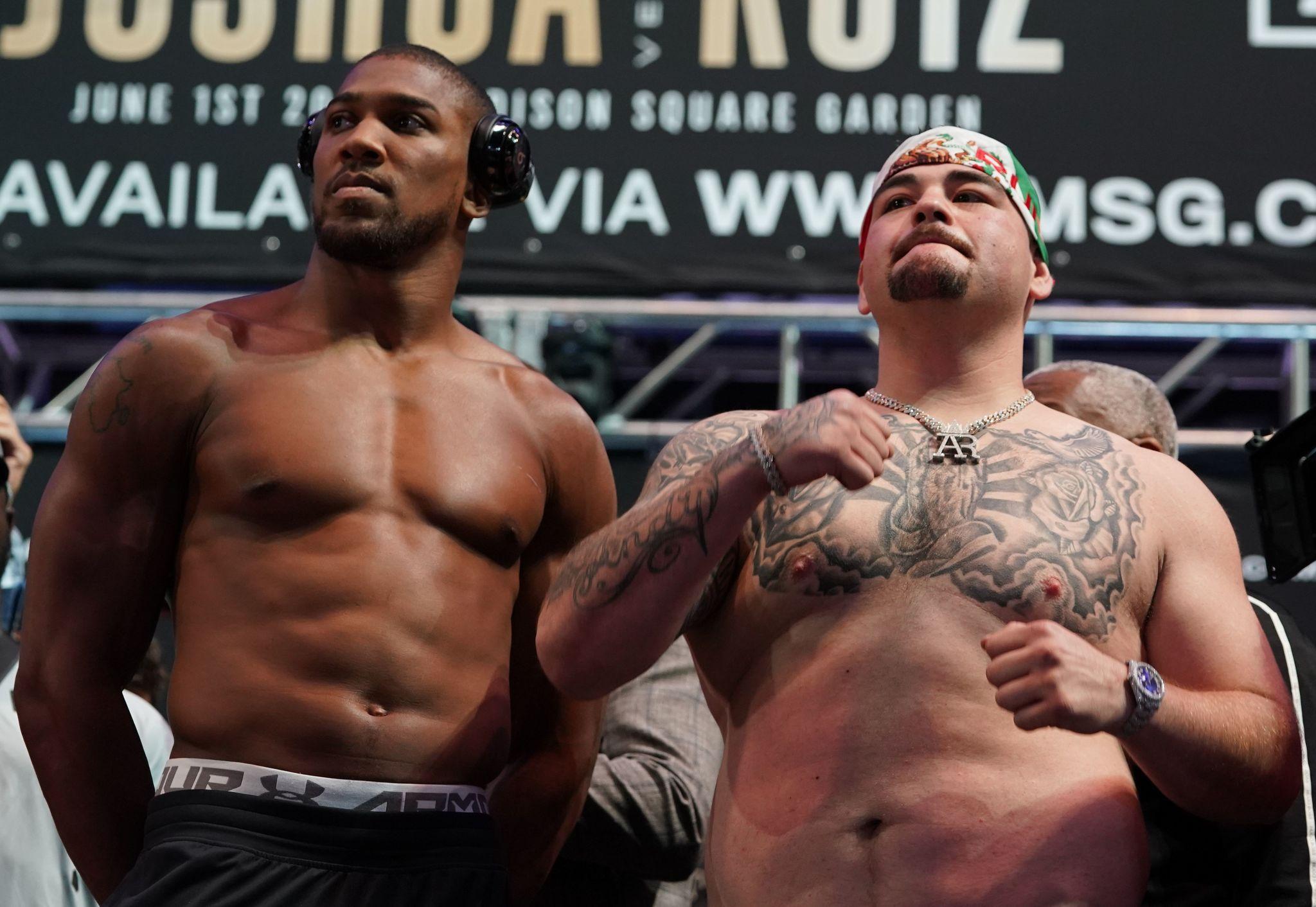 El musculoso Anthony Joshua vs el fornido Andy Ruiz en la...
