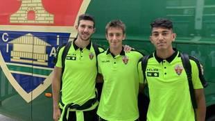 De izquierda a derecha, Nacho Ramón, Luis Castillo y César Moreno.