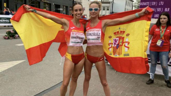 Laura García-Caro y Raquel González tras su gran actuación en la...
