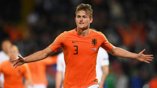 De Ligt, en un partido con Holanda.