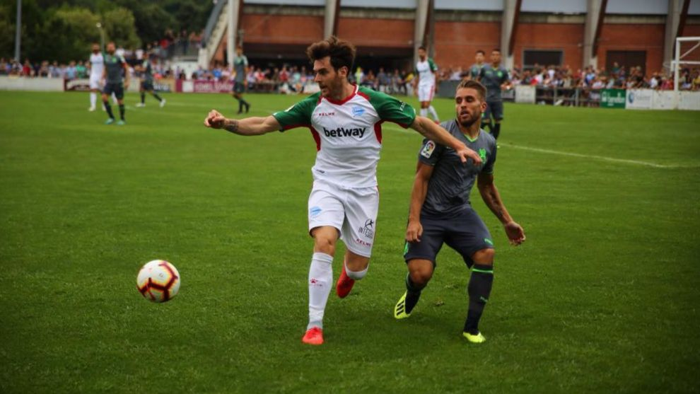 Kevin Rodrigues, en el amistoso del pasado verano contra el Deportivo...