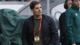 Robert Moreno, durante el partido ante Islas Feore.