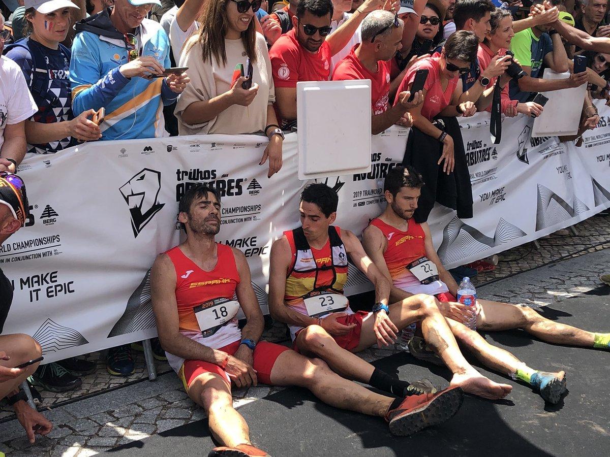 Hernando, Martínez y Simón, en meta.