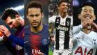 Lionel Messi, Neymar Jr, Cristiano Ronaldo y Son Heung-min, los...