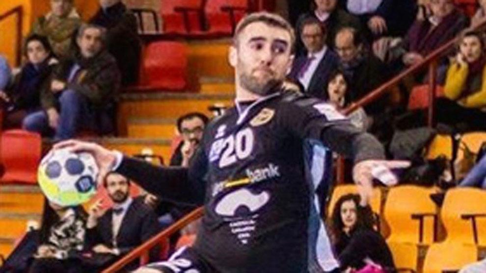 Adrián Nolasco, durante un partido con el Ciudad Encantada /