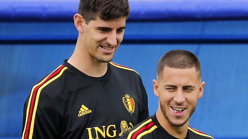 Courtois: I think Hazard will make the difference at Real Madrid