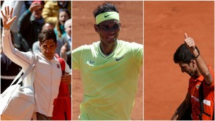 Federer, Nadal y Djokovic, en París
