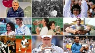 Los campeones españoles de Roland Garros