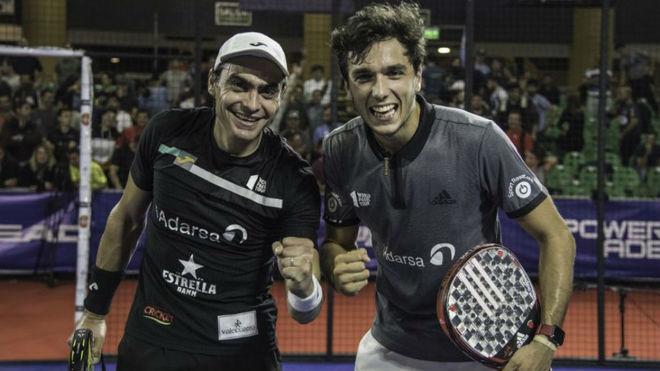 Juan Mieres y Alejandro Galán tras vencer en 'semis'.