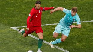 Cristiano Ronaldo y De Ligt.