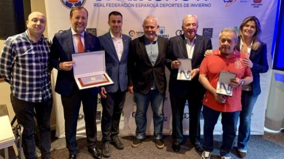 También se entregaron las medallas RFEDI-Spainsnow al mérito...