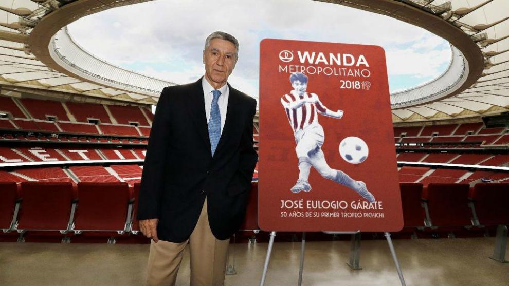 Gárate, en el Wanda Metropolitano como imagen del último carnet de...