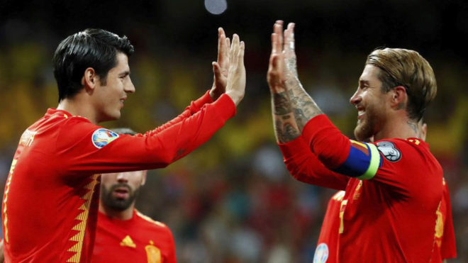 Ramos and Morata on the spot as Spain cruises past Sweden