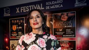 Luz Casal asistió a la presentación del X Festival Solidario de...