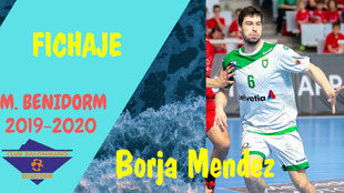 Cartel del fichaje de Borja Méndez /