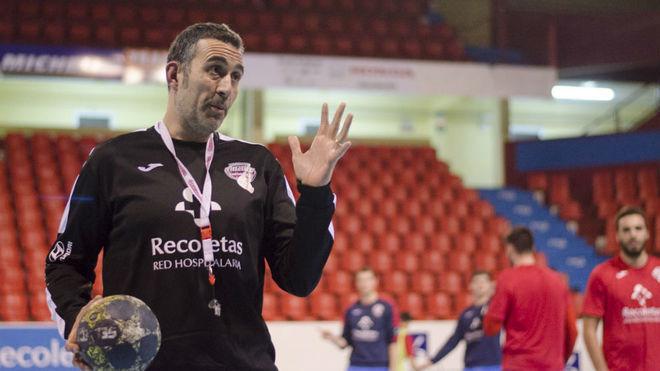 David Pisonero, en un entrenamiento con el Atlético Valladolid /