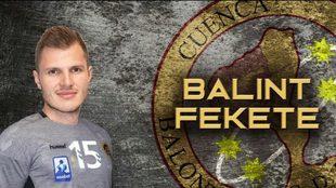 Cartel del fichaje del lateral derecho húngaro Balint Fekete por el...