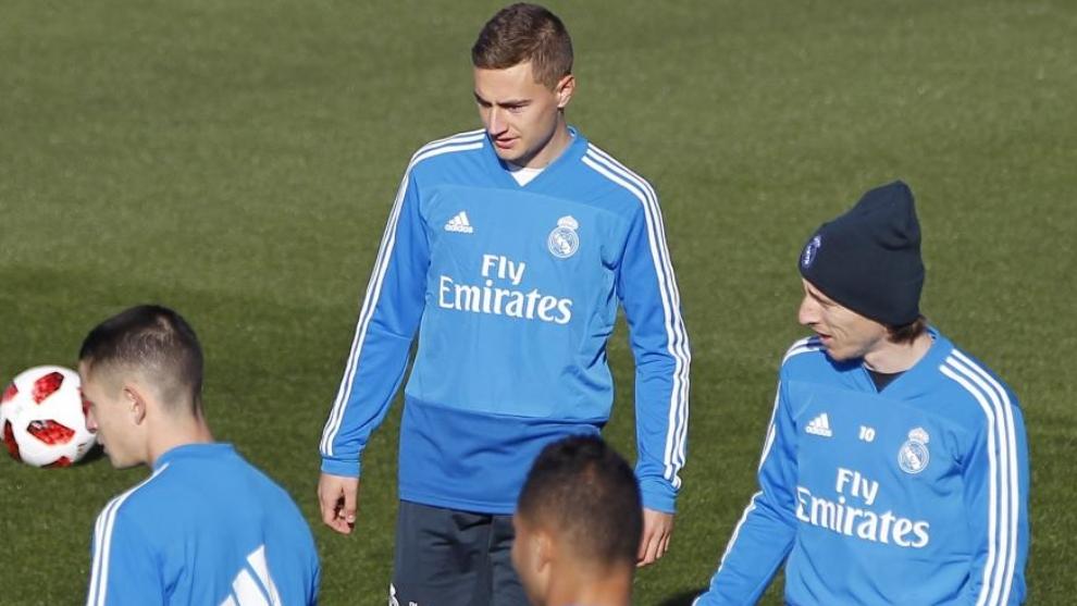 De Frutos durante un entrenamiento con el Real Madrid
