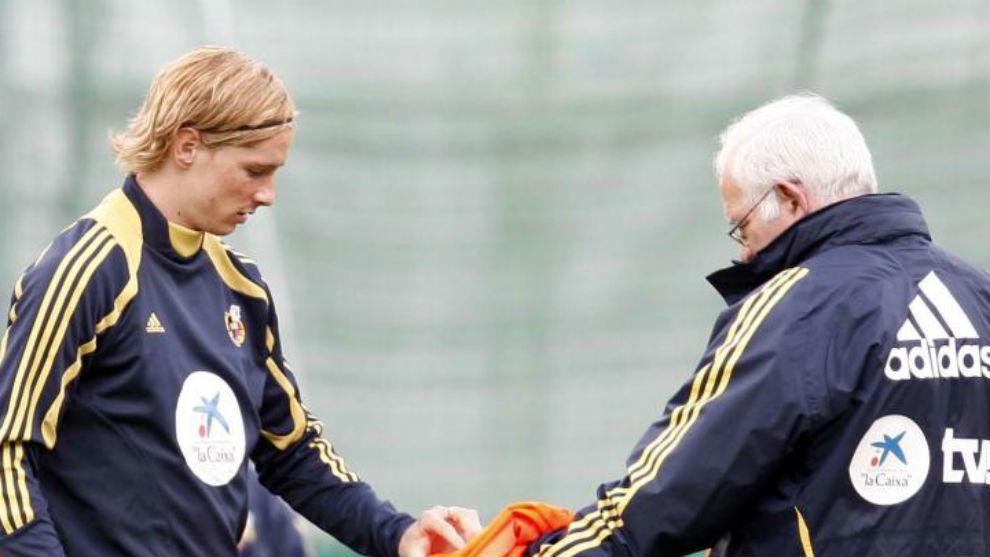 Torres y Luis, con la selección.