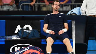 Murray, en el último torneo que jugó, el Open de Australia