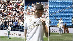 Luka Jovic, en su presentación con el Real Madrid.