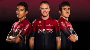 Bernal, Froome y Thomas, en una imagen del equipo.