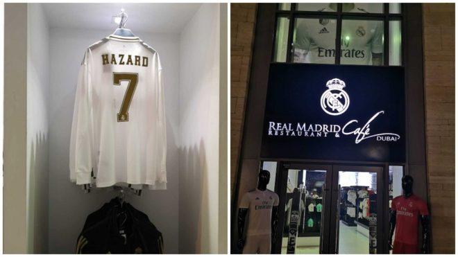 Imagen de la camiseta de Hazard con el 7 que se vende en Dubai.