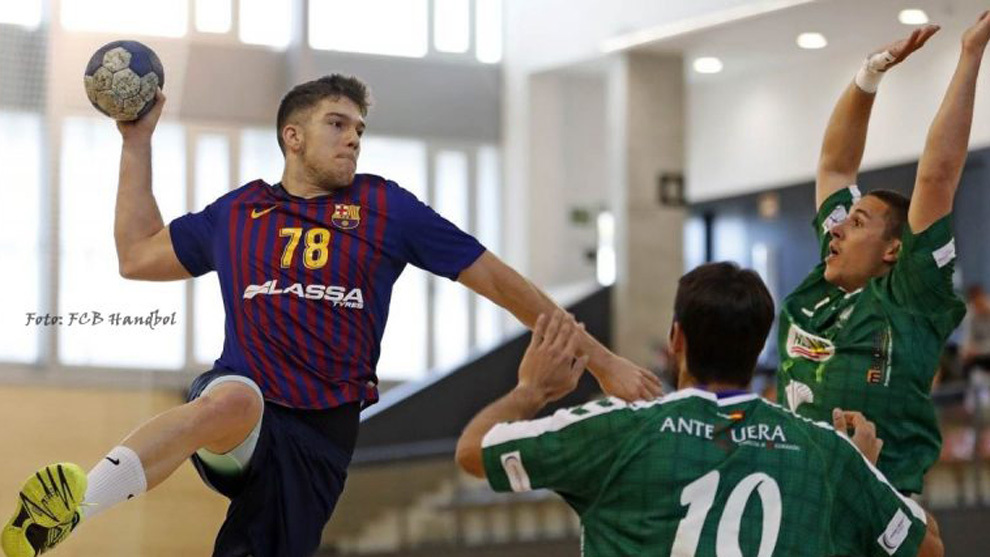 David Estepa durante un partido con el Barça B ante el Alsur...