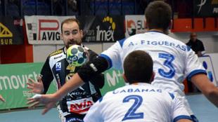 David Jiménez , durante un partido con el Puente Genil /