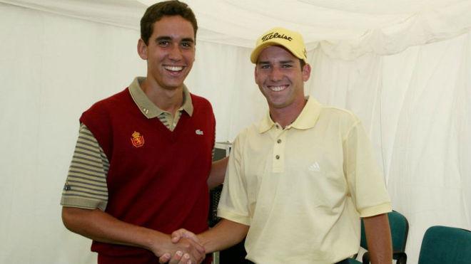 Rafa Cabrera y Sergio García, juntos en Canarias en 2002.