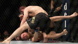 Khabib Nurmagomedov defeating Conor McGregor.