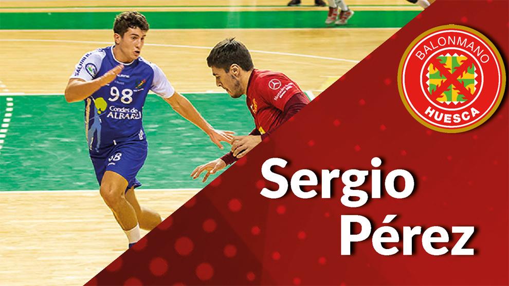 Cartel del fichaje de Sergio Pérez por el Huesca /