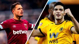 Chicharito y Raúl Jiménez, del West Ham y Wolves en la Premier...