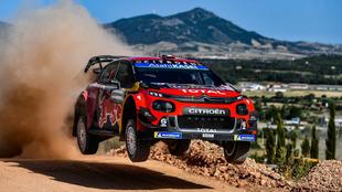 'Seb', en el tramo de pruebas del Rally de Cerdeña.