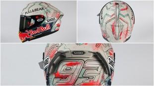 Imágenes del casco que llevará Márquez en el GP de Cataluña.
