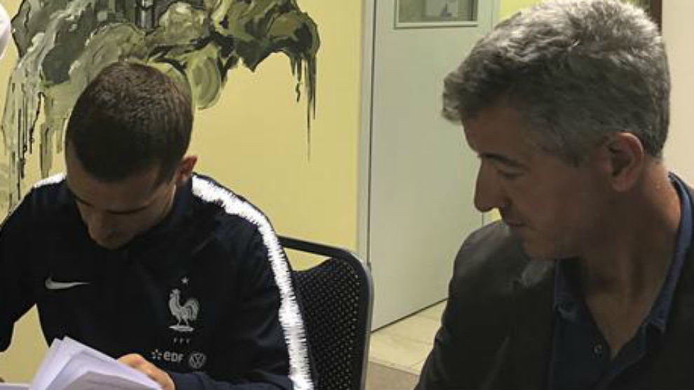 Griezmann and Gil Marin