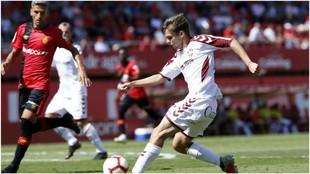 Salva Sevilla y Aleix Febas, en un partido de la temporada