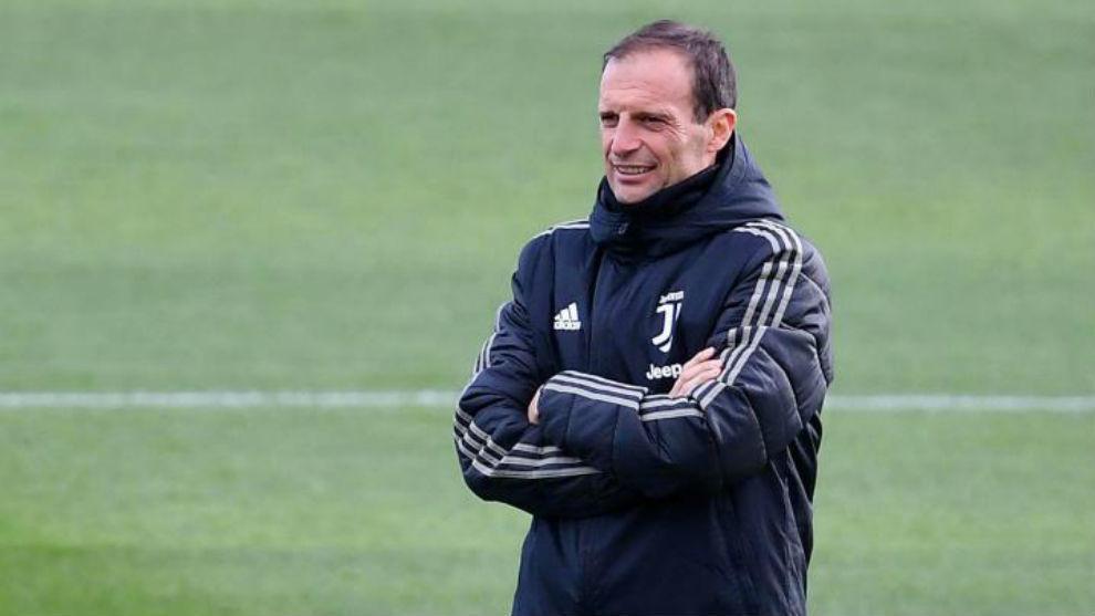 Massiliano Allegri (51) en un entrenamiento de la Juventus. EFE