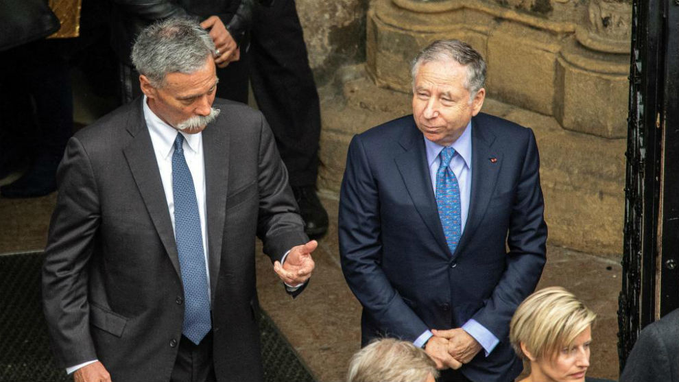 Chase Carey (Liberty) y Jean Todt (FIA).