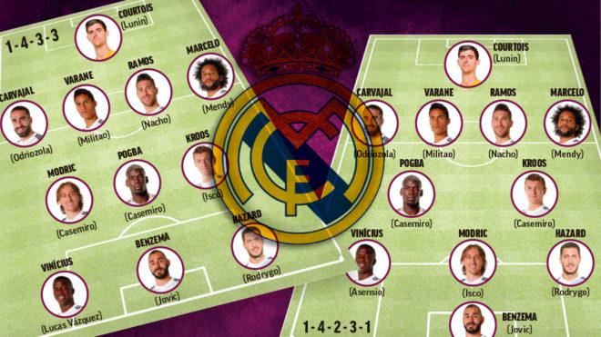 Hazard reina en la pizarra de Zidane