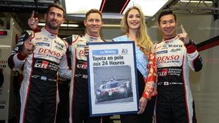 Kobayashi, Conway y Pechito, pole en Le Mans.