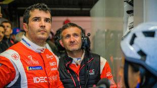 Memo Rojas, por un buen resultado en Le Mans.