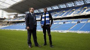 Jokin Aperribay visita Anoeta con Alexander Isak, el delantero sueco...