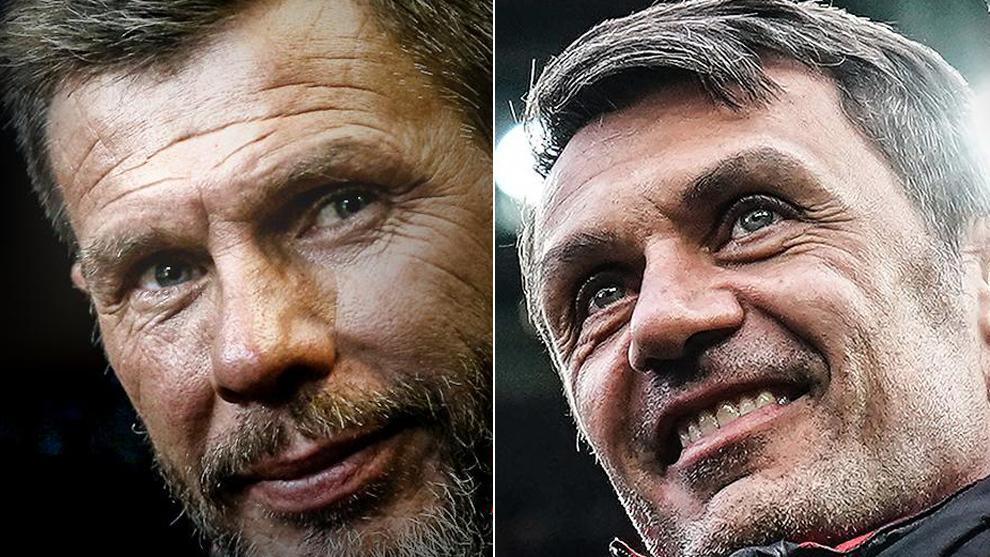 Boban y Maldini en las imágenes del Milan