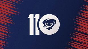 Este es el nuevo logo que utlizará el club en su 110 aniversario a lo...
