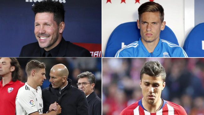 Simeone, Llorente, Zidane y Rodrigo