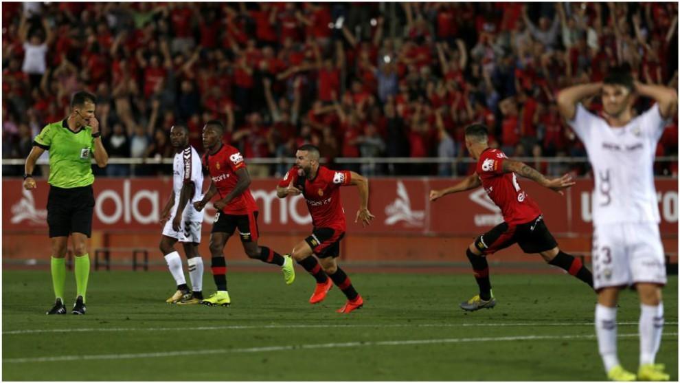 Pulido Santana, durante el partido Mallorca-Albacete