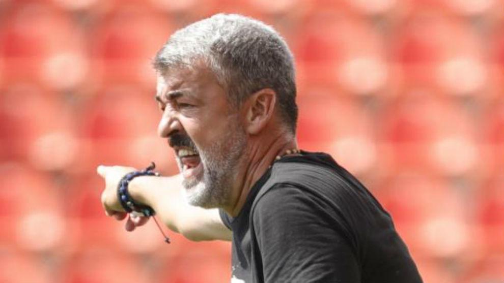 Óscar Fernández, entrenador del Atlético B.